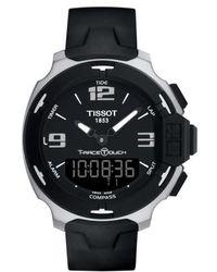 Tissot - T-race Touch Multifunction Rubber Strap Watch - Lyst