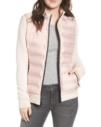 Marc New York - Puffer Jacket With Knit Sleeves - Lyst