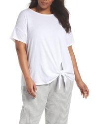 Eileen Fisher - Tie Hem Organic Cotton Tee - Lyst