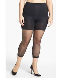 Spanx - Spanx Power Capri Control Top Footless Pantyhose - Lyst