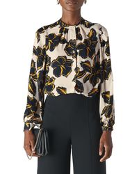 Whistles Tropical Leaf Silk Shirt - Multicolor