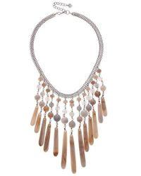 Nakamol - Semiprecious Stone Bib Necklace - Lyst