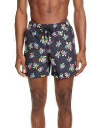 Vilebrequin Moorea Turtle-print Swim Shorts - Black