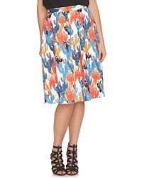 Cece by Cynthia Steffe - 'cactus Sketches' Print Full Skirt - Lyst