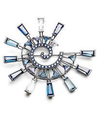 Eddie Borgo 'galaxy Spiral' Brooch - Blue