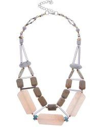 Nakamol - Semiprecious Stone Collar Necklace - Lyst