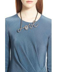Lanvin - 'love' Pendant Necklace - Lyst