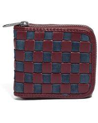 Vans - Leather Zip Wallet - Burgundy - Lyst