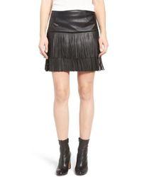 Trouvé - Fringe Faux Leather Skirt - Lyst