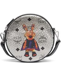 MCM - 'rabbit' Coated Canvas Crossbody Bag - Metallic - Lyst