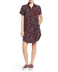 Vans | Floral Print Shirtdress | Lyst