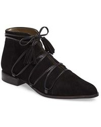 French Sole - Styles Lace-up Bootie - Lyst