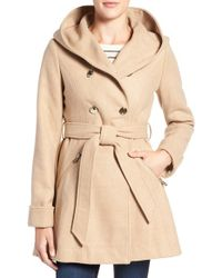 Jessica Simpson - Double Breasted Hooded Trench Coat - Lyst