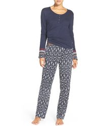 Lucky Brand - Henley Pajamas - Lyst