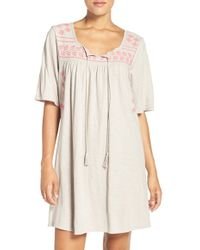 Lucky Brand - Embroidered Cotton Caftan - Lyst