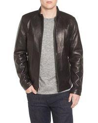 ab62f601b Lambskin Leather Moto Jacket - Black
