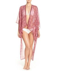 BCBGMAXAZRIA - Lace Print Duster Cover-up - Lyst