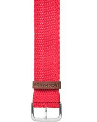 Jack Mason Brand - Nylon Strap With Leather Keeper - Lyst