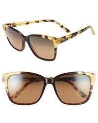 Maui Jim Moonbow 57mm Polarizedplus2 Sunglasses - Marsala Tokyo Tortoise/ Bronze - Brown