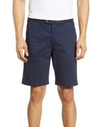 Ted Baker Shorlid Slim Fit Geo Print Chino Shorts - Blue