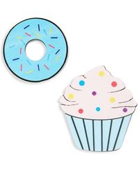 TOPSHOP - Cupcake & Donut Brooches (set Of 2) - Lyst