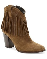 Andre Assous   'farley' Fringe Bootie   Lyst