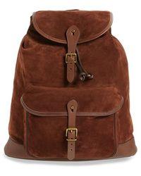 Polo Ralph Lauren Suede Backpack - Brown