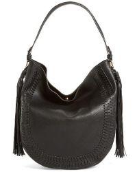 Phase 3 - Tassel Faux Leather Hobo Bag - Lyst