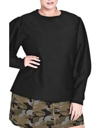 City Chic - Girl Power Statement Sleeve Top - Lyst