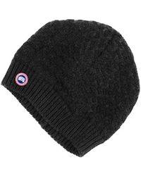Women's Canada Goose' Pom Merino Wool Beanie - Black