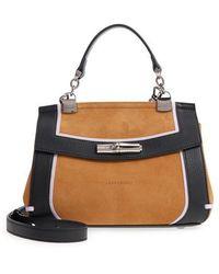 Longchamp - Madeleine Colorblock Leather Satchel - Lyst