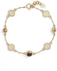 Anna Beck - Grey Sapphire & Pyrite Bracelet - Lyst