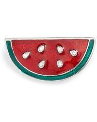 Cara - Watermelon Brooch - Lyst