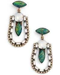 Lionette - 'annie' Simulated Opal & Swarovski Crystal Drop Earrings - Lyst