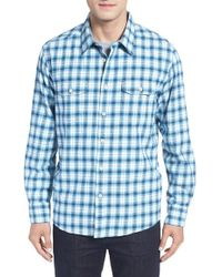 Cova - 'bennett' Regular Plaid Flannel Sport Shirt - Lyst