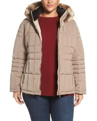 CALVIN KLEIN 205W39NYC - Hooded Jacket With Faux Fur Trim - Lyst