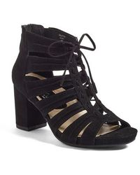 Earthies Earthies Saletto Caged Sandal - Black