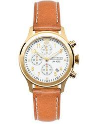 Jack Mason Brand Aviation Chronograph Bracelet Watch - Metallic