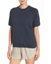 Sincerely Jules - 'cara' Short Sleeve Sweatshirt - Lyst