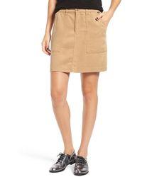 Obey - 'ridgefield' Twill Miniskirt - Lyst