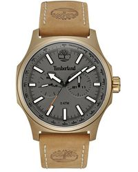 Timberland | 'shermand' Multifunction Leather Strap Watch | Lyst