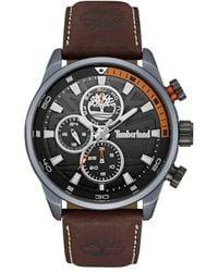Timberland - Henniker Ii Chronograph Leather Strap Watch - Lyst