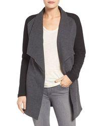 Pleione Reverse Knit Terry Jacket - Black
