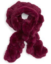 Toria Rose - Genuine Rabbit Fur Scarf - Lyst