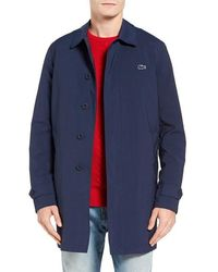 Lacoste Lined Shell Coat - Blue