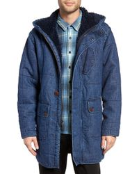 Outerknown - Arroyo Quilted Denim Hooded Jacket - Lyst
