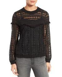 Trouvé - Fringe Lace Sweatshirt - Lyst