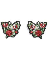 TOPSHOP - Embroidered Floral Collar Tips - Lyst