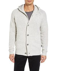 Victorinox - Victorinox Swiss Army Engine Hooded Button Cardigan - Lyst