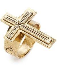 Virgins, Saints & Angels - Santissimo Cross Ring - Lyst